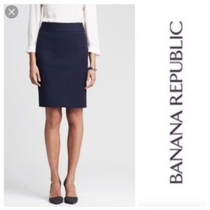Banana Republic Skirts - 🌸Banana Republic Navy Blue Pencil Skirt